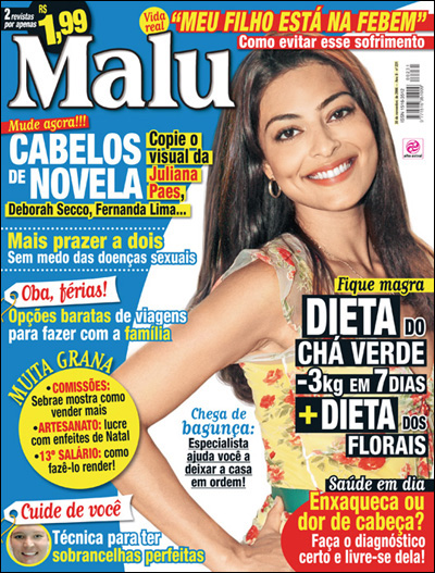 Matéria na Revista Malu - Dieta dos Florais para o Emagrecimento ...